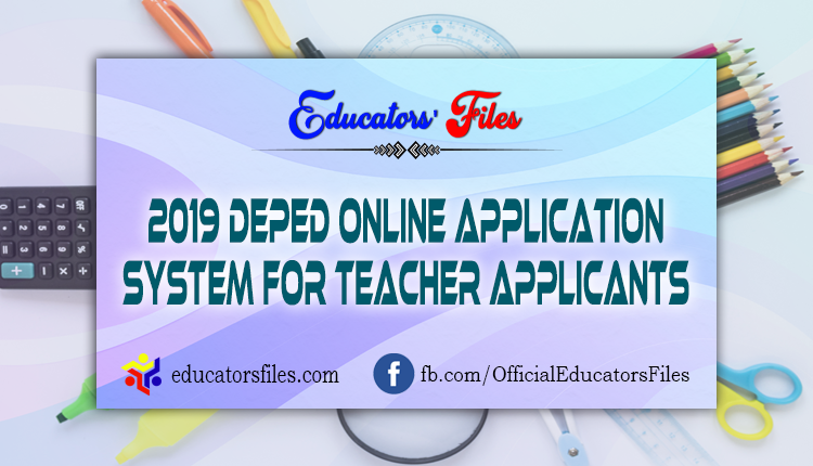 DEPED Online Application System for Teacher Applicants 2019