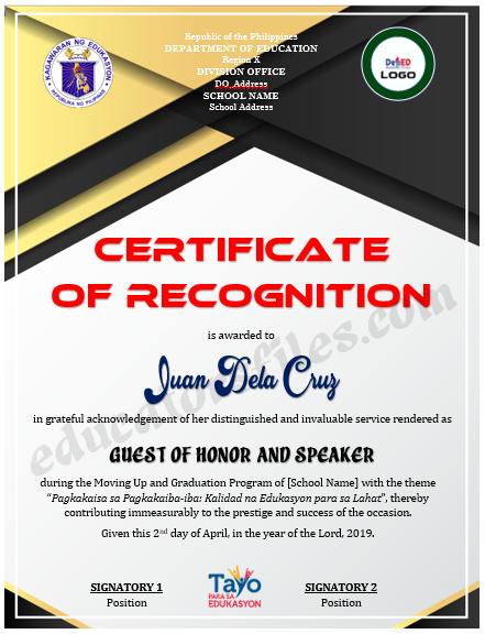 Letter Of Appreciation For Guest Speaker from educatorsfiles.com